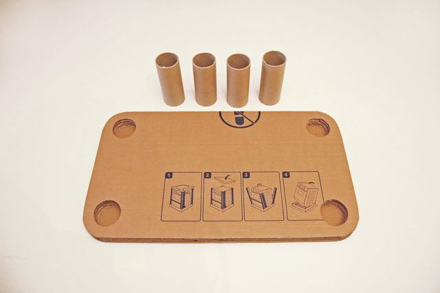 carboard table for kids step03 Rajzasztalka a nappaliba