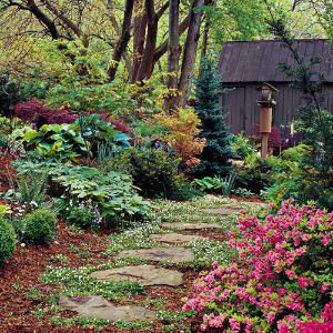 cottage style garden - pathwayGardens Ideas, Secret Gardens, Cottages Gardens, Cottage Gardens, Gardens Paths, Garden Paths, Stones Paths, Gardens Design, Dreams Gardens