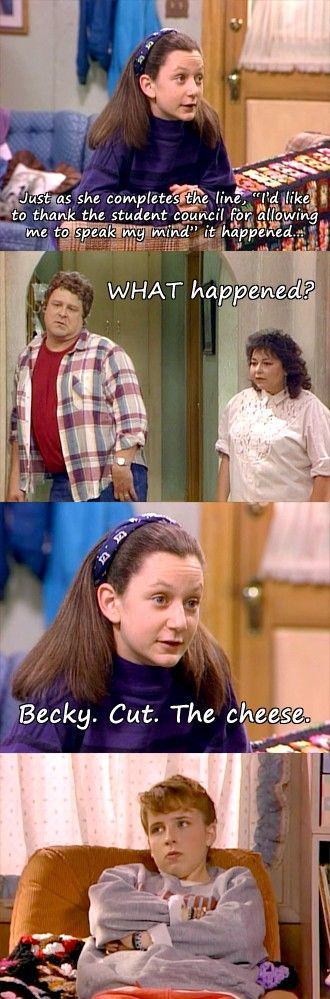 My all time favorite episode of Roseanne. I laugh the entire episode, just because I know whats next
