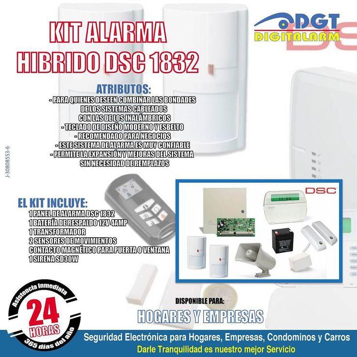 """Para la #Seguridad del #Hogar y la #Empresa los Mejores Productos: Kit Alarma Híbrido DSC 1832. te interesa? Feliz Miércoles!  #DGTDigitAlarm """"Darle #Tranquilidad es nuestro mejor Servicio"""" #Valencia #Venezuela #Seguridad #SeguridadElectrónica #Hogar #Carros #Condominio #Empresas #Alarmas #PáginaWeb  www.dgt.co.ve  0-500-PANICO-7 (0-500-726426-7) 18 años de Experiencia! by dgtdigitalarm"""