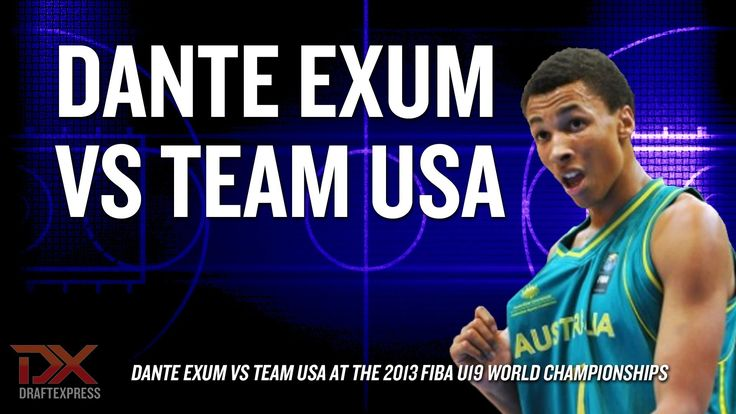 Dante Exum vs Team USA at FIBA U19 World Championships  Hardcore Hoops fans,  Let's Connect!!  •Check out my site: (http://slapdoghoops.blogspot.ca ).   •Like my Facebook Page: https://www.facebook.com/slapdoghoops •Follow me on Twitter: https://twitter.com/slapdoghoops •Add my Google+ Plus Page to your Circles: https://plus.google.com/+SlapdoghoopsBlogspot/posts •For any business or professional inquiries, connect with me on LinkedIn: http://ca.linkedin.com/in/slapdoghoops/