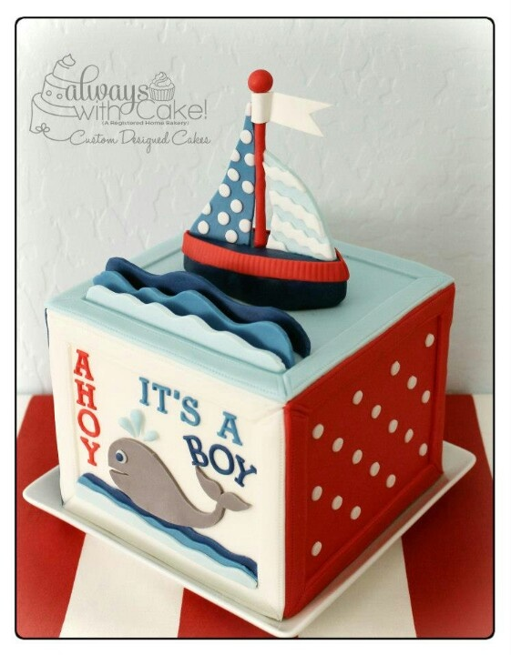 baby shower cake - could modify it for a little boy's birthday