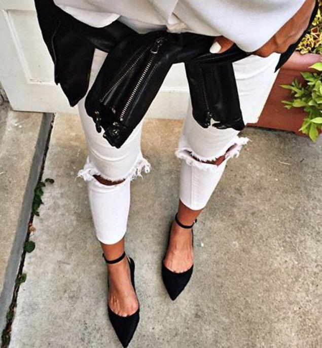 30 façons de porter le jean blanc repérées sur Pinterest   Glamour