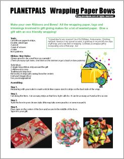 DIY Make your own recycle ribbon bow.  Complete interactions and FREE download