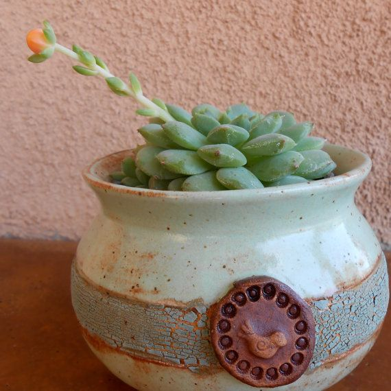 Ceramic Pottery Bowl with Bird Motif - Candy Dish on Etsy, $20.00