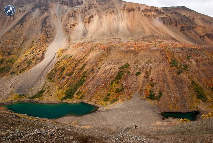 Hiking in the Spectrum Range, Mt. Edziza Provincial park, BC, Canada