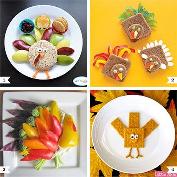 The fruit turkey that I blogged about last week was such a hit, I thought I'd round up some more cute, healthy snack ideas for kids – all with a turkey theme for Thanksgiving! Although I do have a huge weakness for holiday-themed desserts, let's ...