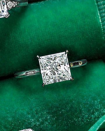 Classic Princess Cut diamond solitaire. Repinned by favorite follower Lauren Brillante.