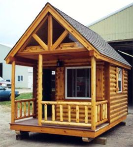 Image detail for -Custom Log Cabin Playhouse - The Fun Times Guide to Log Homes