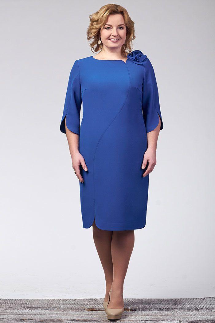 Платье Erika Style 462 василек