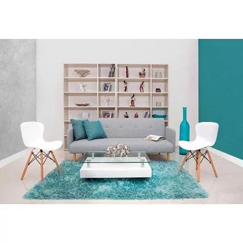 Sofacama Multifuncional Moderno En Tela, Patas Madera. Runa - $ 1.040.000