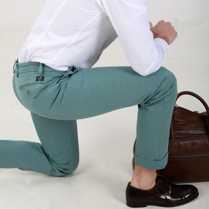 Pantalone chino modello New York in twill di cotone - Masons