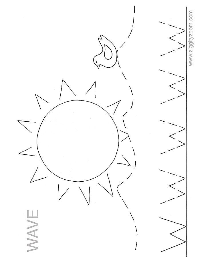letter w worksheet for preschool