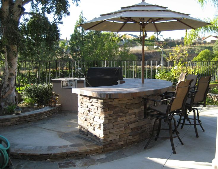 34 best images about bbq island ideas on pinterest pit for Backyard built in bbq ideas