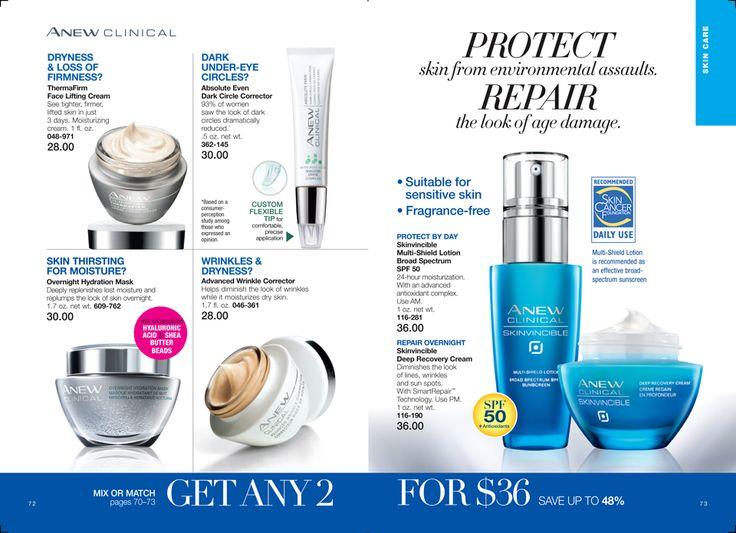 Skincare to Repair and Protect eBrochure | AVON https://www.avon.com/brochure/?s=ShopBroch&c=repPWP&repid=16317031&tntexp=pwp-b&mboxSession=1456346202752-389620 #skincare