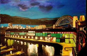 Walsh Bay at dusk - Oil on canvas 2007