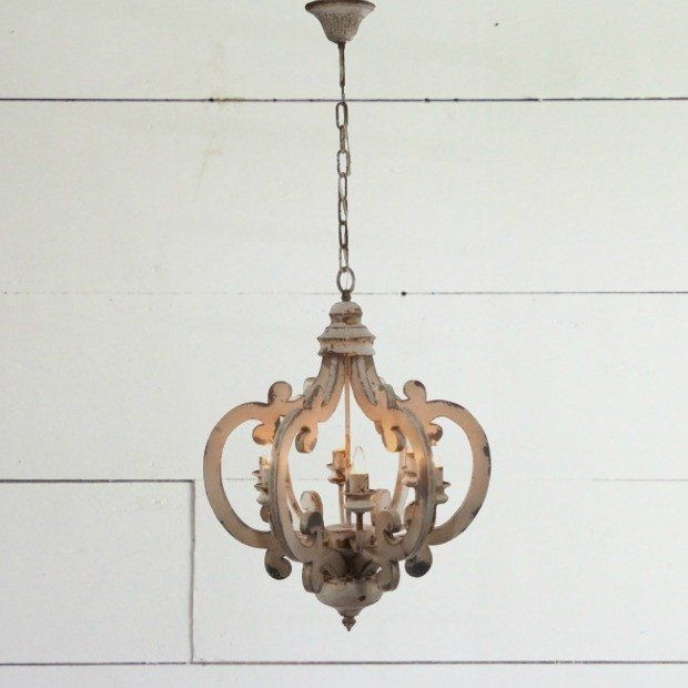 French Country Chandelier   Antique Farmhouse