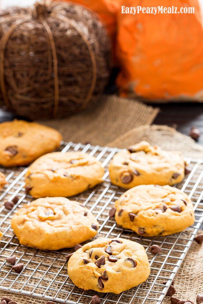 Super Soft Pumpkin Chocolate Chip Cookies