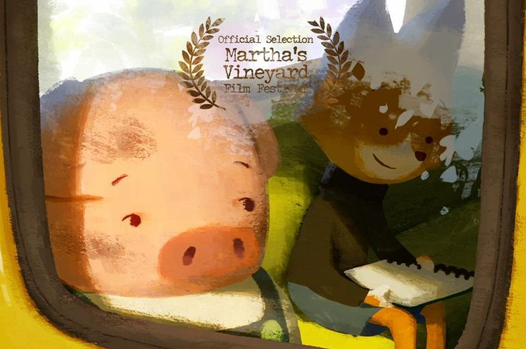 """Pig and Fox are also taking a weekend train ride towards Cape Cod. We are pleased to announce The Dam Keeper is an official selection of Martha's Vineyard International Film Festival as a part of one and only Bill Plympton's """"animation showcase"""" program!   http://mvfilmsociety.com/2014/08/mviff-animation-showcase-with-bill-plympton/"""
