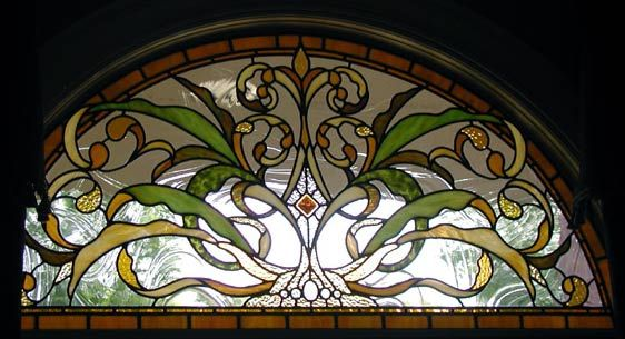 "stained glass designs for windows | HOGAN ARCH"" STAINED ..."