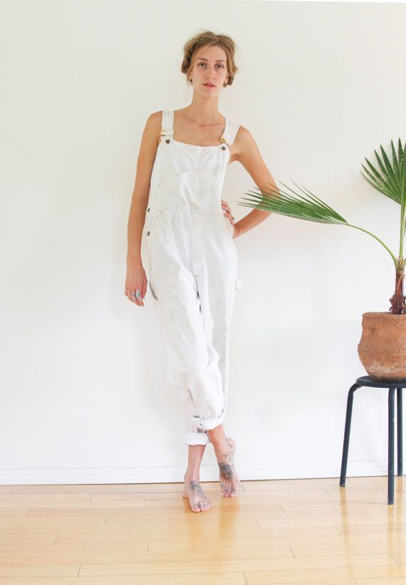 1960s Big Mac OVERALLS / WHITE PAINTERS Overalls by shopfuture