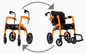 The Rollz Motion Rollator Walker and Transport Chair in One! Perfect for travel & those on the go! In 4 stylish colors.  Free shipping @easeliving