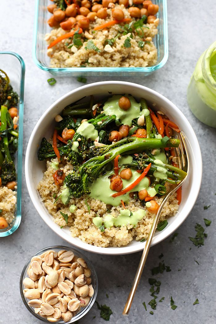 These Vegetarian Kung Pao Quinoa Bowls are the perfect meal prep recipe to make so you can enjoy a healthy lunch or dinner the entire week!