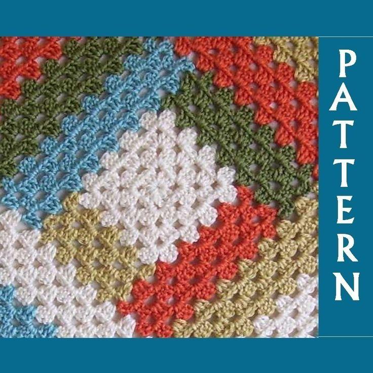 Free Crochet Pattern - Reversible Log Cabin Crocheted Afghan from