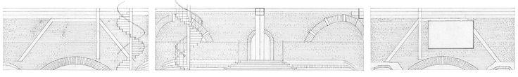 Development drawing of conference-hall walls. Materials: paper, ink / Развертка стен конференц-зала. Материалы: бумага, тушь