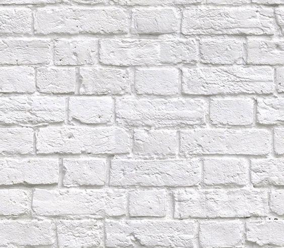 Soft White Bricks wallpaper: