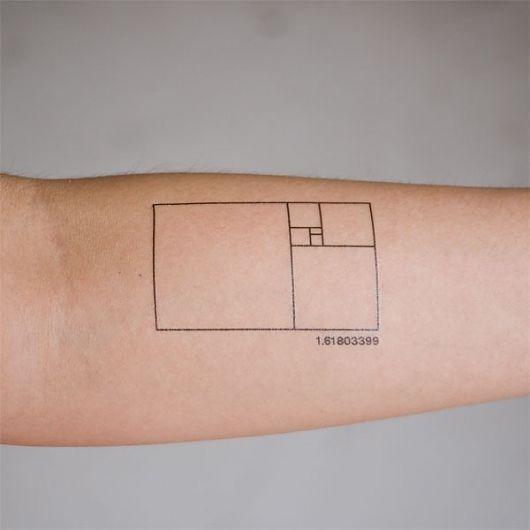 Tattoo Ideas, Tattoo Inspiration, Geometric Tattoo, Fibonacci Tattoo, Golden Ratio, Ink, Golden Rectangle, Goldenratio, Ratio Tattoo