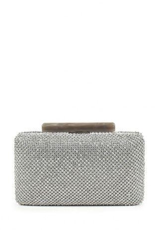 Клатч Nano de la Rosa, цвет: серебряный, серый. Артикул: NA003BWDNR29