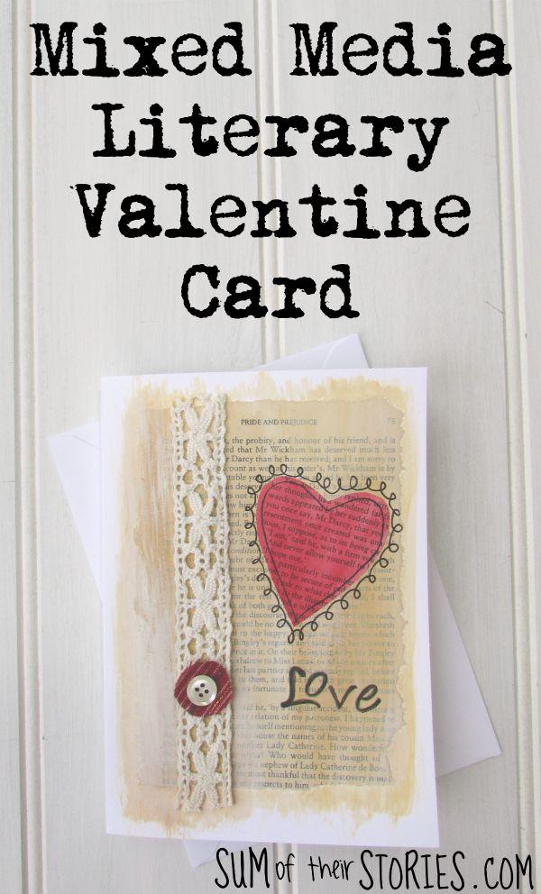 Mixed Media literary valentine card