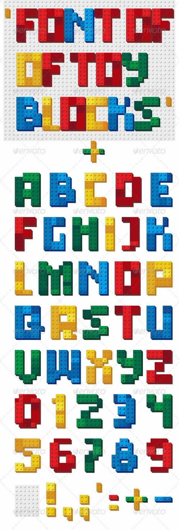 Font of Toy Blocks  #GraphicRiver         The alphabet in the form of a toy…
