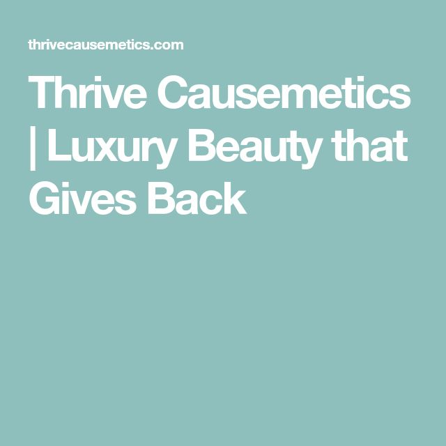 98 best beauty images on pinterest beauty tips beauty tricks and thrive causemetics luxury beauty that gives back fandeluxe Images