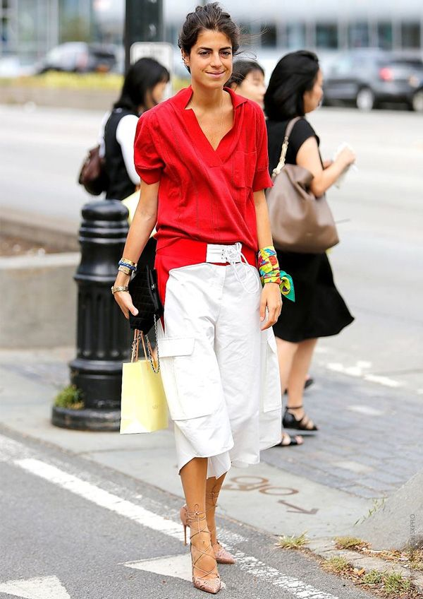 leandra medine lace up culottes street style