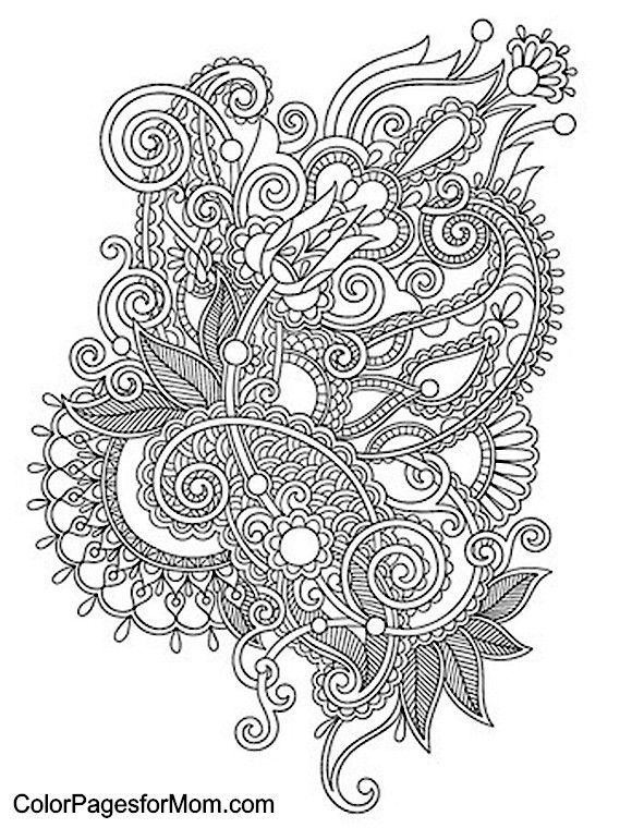 Paisley Pattern Colouring Sheets : The 25 best paisley coloring pages ideas on pinterest