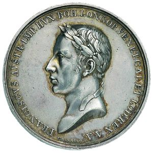 Artemide Aste - Asta XXVI: 802 - Milano Francesco II (1792-1835). Medaglia 1815. Lombardo-Veneto per il Giuramento. - Dea Moneta