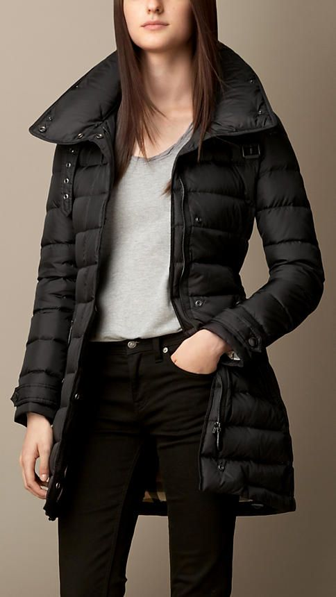67 best down coat- black quilted coat/jacket images on Pinterest