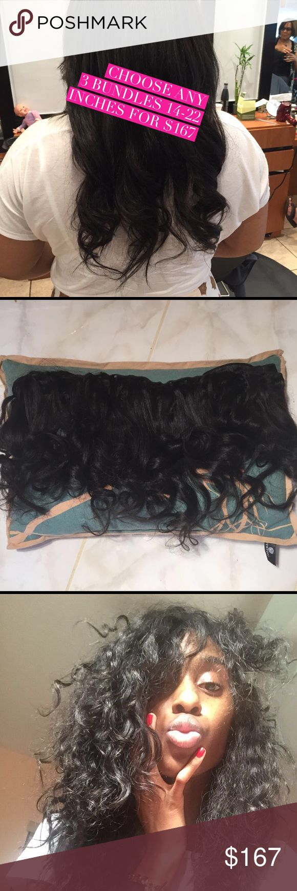 Hair extensions sale . Choose any 3 lengths This weekend ONLY Choose any 3 lengths ...14-22 inches for $167. US Shipping only. Bags