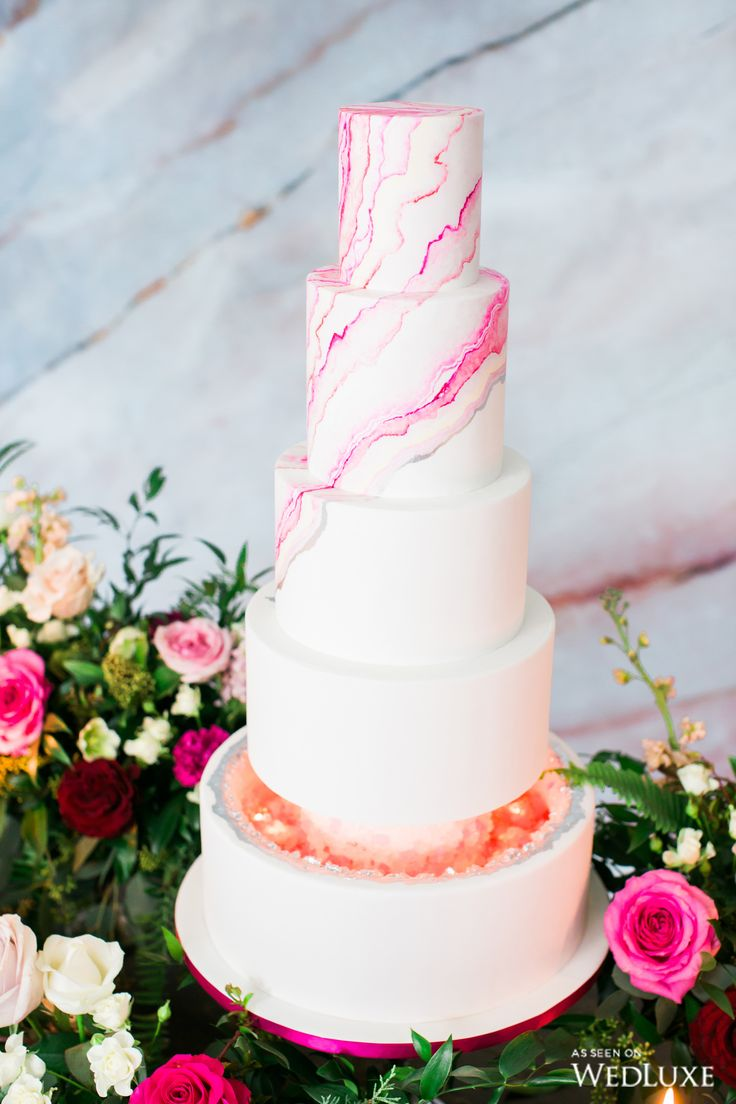 wedding cakes los angeles prices%0A Pink Agate  Wedding Decor  Wedding Cakes  Cake Wedding