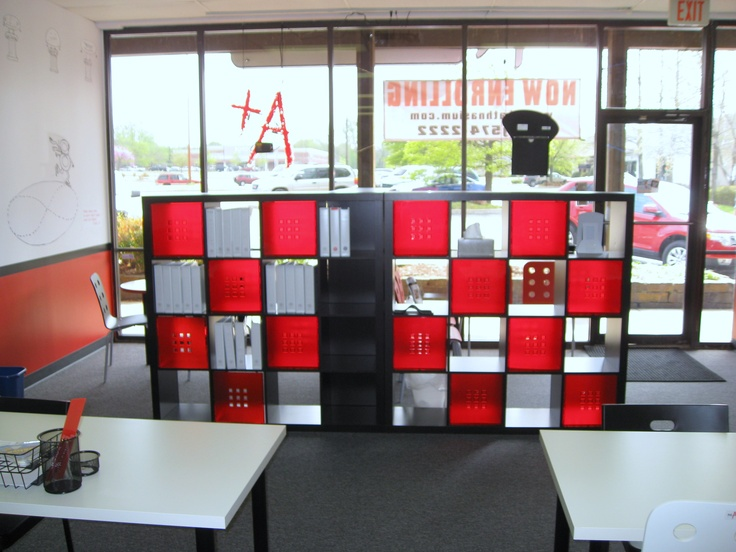 Great room divider idea from Mathnasium of South Tulsa.