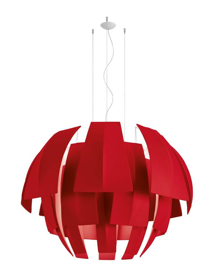 Fluorescent fabric pendant #lamp PLUMAGE by AXO LIGHT | #design Vanessa Vivian @AxoLight
