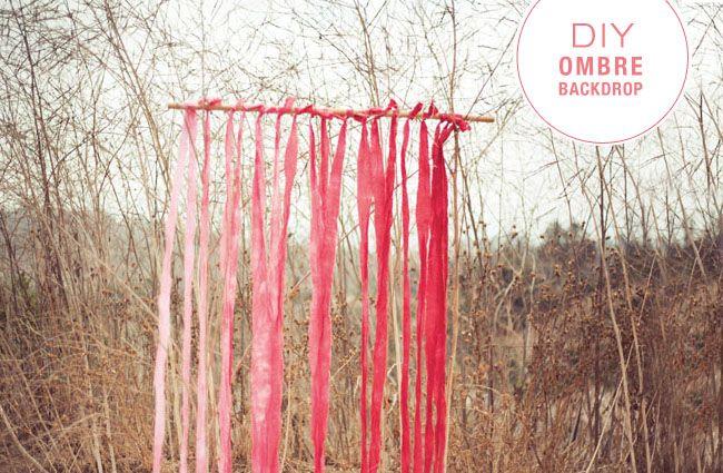 DIY: Ombre Fabric Backdrop
