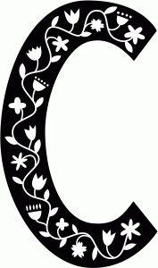 Silhouette Design Store - View Design #68623: scandinavian folk decorative monogram c