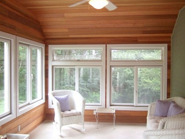 33 best images about sunroom on pinterest cedar homes for Cedar sunroom