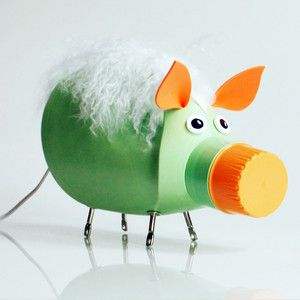 (88) Fab.com | Cute Critter Lamps - Okay these lamps from ABYU are too cute, but at $92 it is a little steep for my budget.  I bet they could be easily DIY'd.