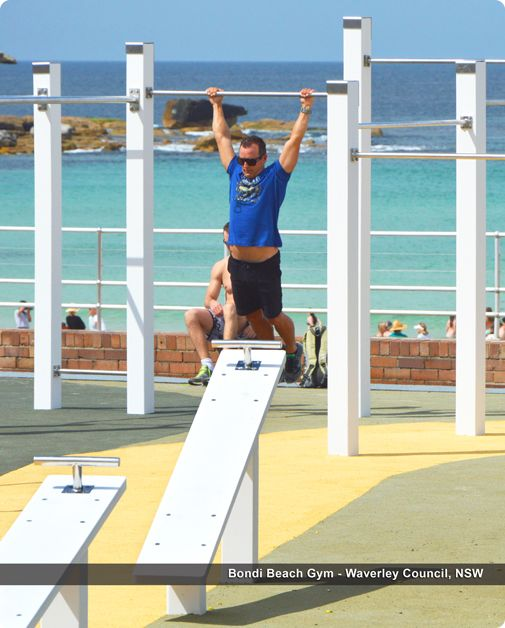 Bondi Beach has added to its appeal with a new outdoor gym by Moduplay.