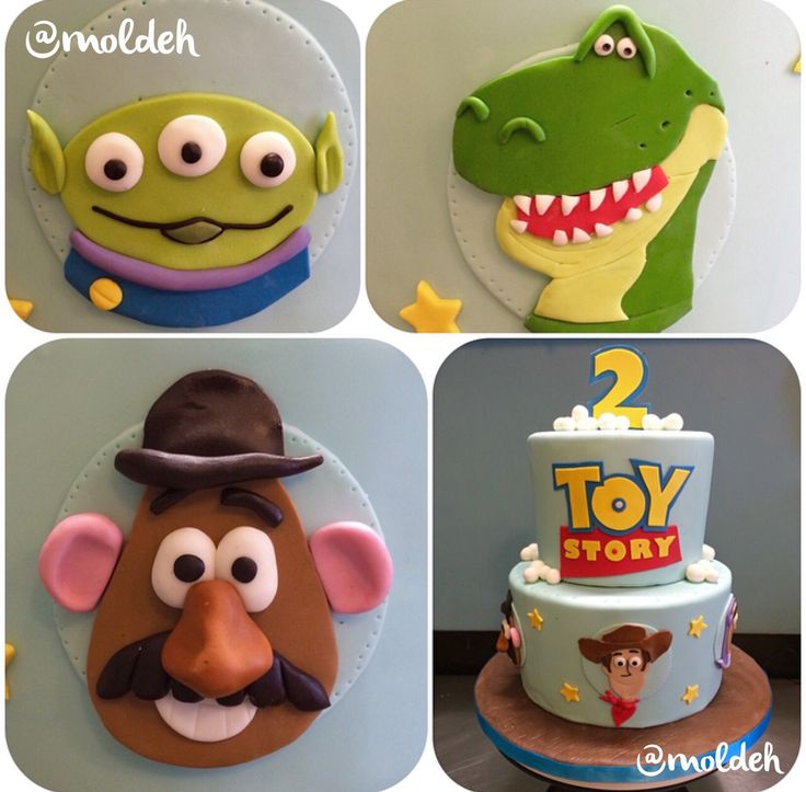 Pastel de Cumple con tema de Toy Story // Toy Story Birthday Cake