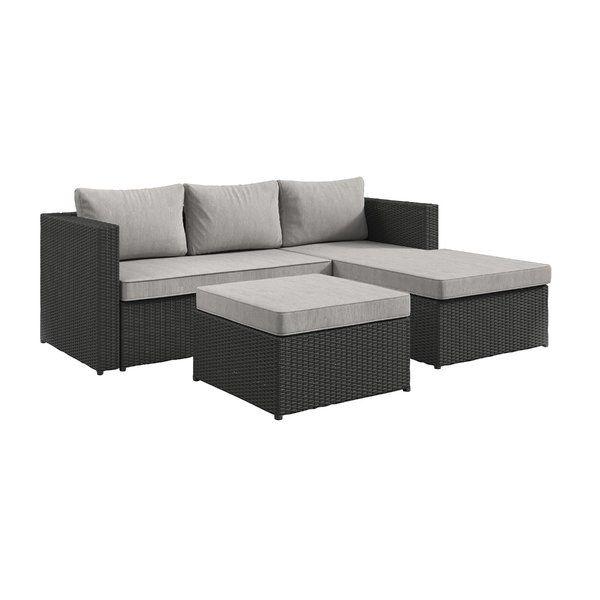 Sol 72 Outdoor Calla Patio Sectional With Cushions Reviews Wayfair Contemporary Outdoor Sofas Outdoor Sectional Sofa Patio Sectional